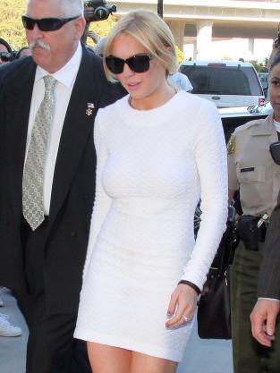 Tight white dress