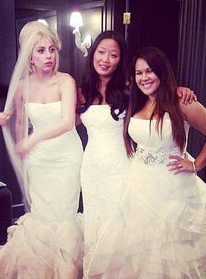 Lady Gaga, Vera Wang Wedding Dress