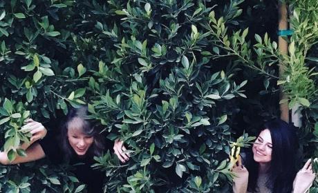 Taylor Swift and Selena Gomez Goof Around