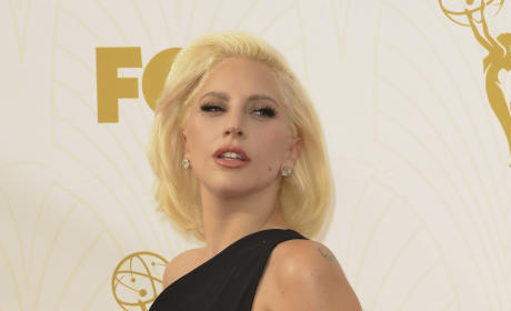Lady Gaga at the 2015 Emmys