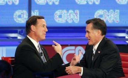Republican Debate: Mitt Romney Seeks to Derail Rick Santorum, Newt Gingrich Kind of Throws in Towel