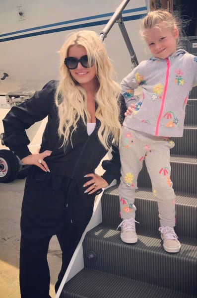 Jessica Simpson Poses with Daughter