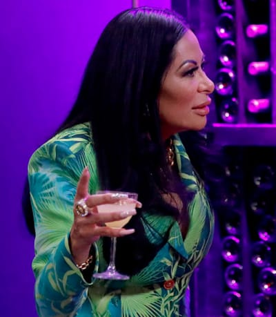 Jen Shah with a Drink