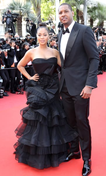 Carmelo Anthony and La La in Cannes