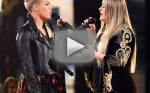 Kelly Clarkson and Pink Open American Music Awards with Emotional Duet