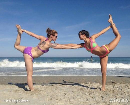 Nina Dobrev Yoga Pose