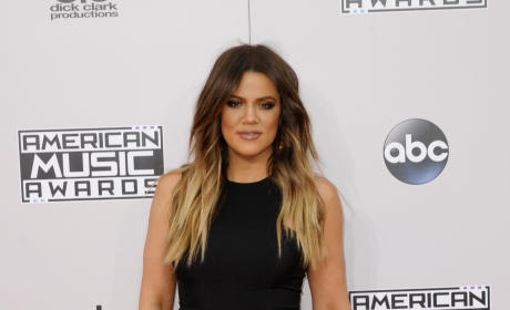 Khloe Kardashian at the American Music Awards