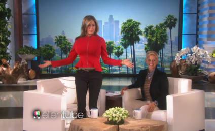 Jennifer Aniston Appears on Ellen, Trolls Kim Kardashian with Randomly Inflated Breasts