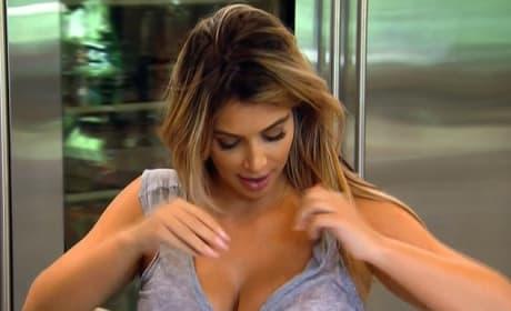 Kim Kardashian Lactating