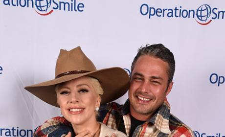 Lady Gaga And Taylor Kinney Attend 'Celebrity Ski & Smile Challenge'