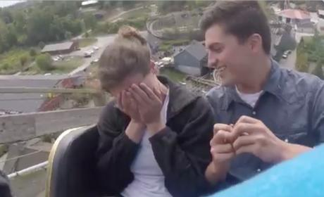 Roller Coaster Proposal Takes Love to New Heights