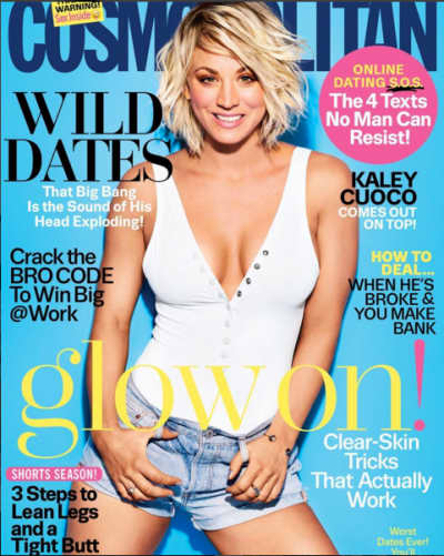 Kaley Cuoco Cosmopolitan Cover April 2016