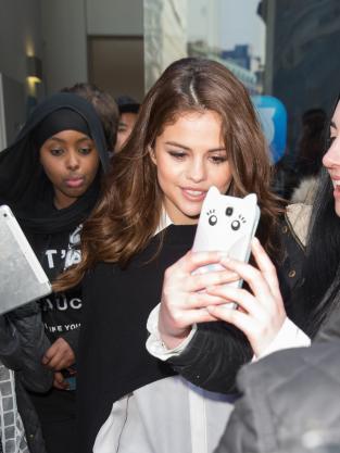 Selena Gomez with Fans