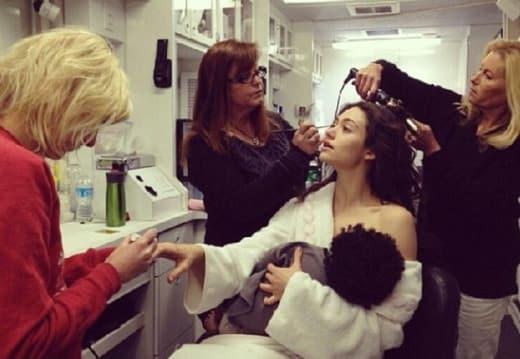 Emmy Rossum Breastfeeding
