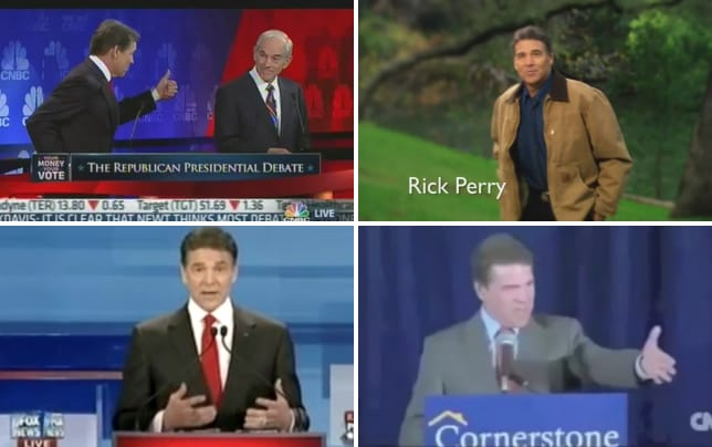 Rick perry stumbles in debate