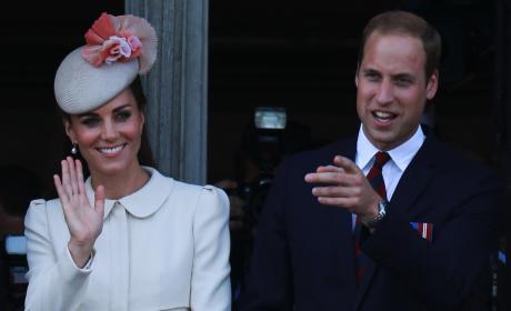 Kate Middleton Waving to Fans