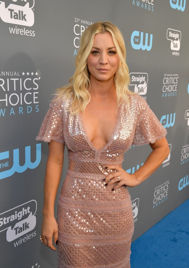 Kaley Cuoco Doesn't Need a Bra