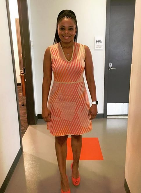Jemele Hill in a Dress