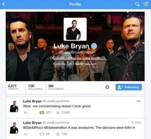 Luke Bryan Twitter