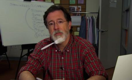 """Stephen Colbert Shaves Off """"Colbeard"""" in Preparation for The Late Show"""