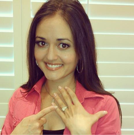 Danica McKellar Engagement Pic