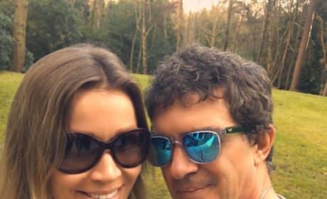 Antonio Banderas with Girlfriend