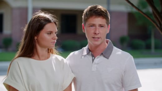 Julia Trubkina and Brandon Gibbs explain that they have to wait 2 weeks
