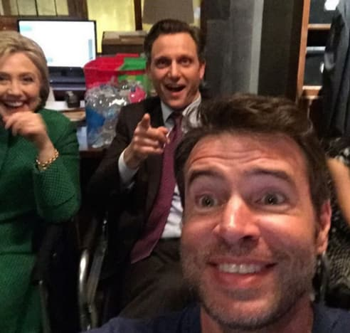 Hillary Clinton and Scandal Cast
