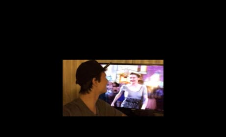 Ansel Elgort Takes Selfie Watching MTV Move Awards