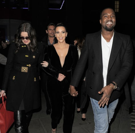 Kanye West with Kim