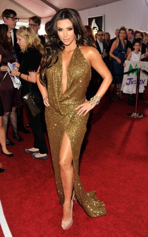 Kim Kardashian at the Grammys