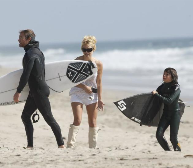 Jamie Padgett and Pamela Anderson