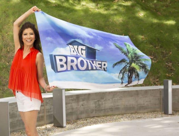 Julie Chen Waves Big Brother Flag