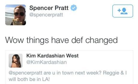 Spencer Pratt-Kim Kardashian Tweet