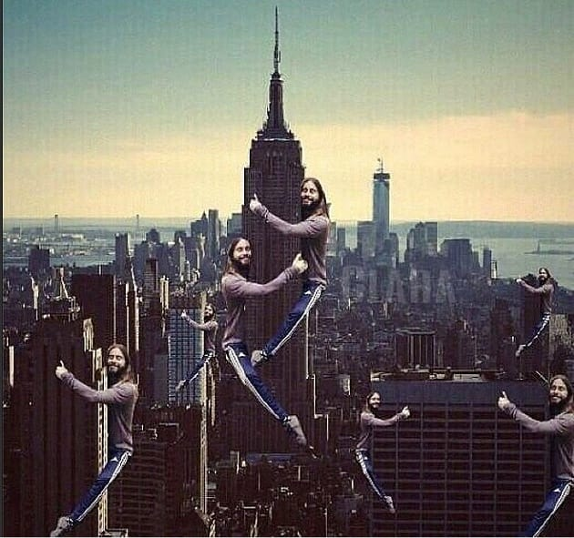 Jared Leto Hugs NYC