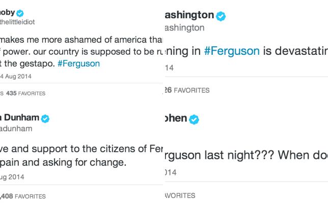 Celebrities react to ferguson missouri moby