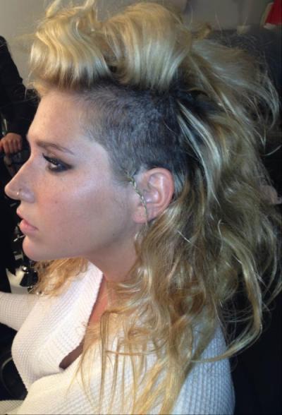 Ke$ha Shaved Head Photo