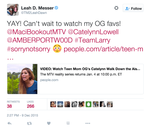 Leah Messer Tweets About Teen Mom OG