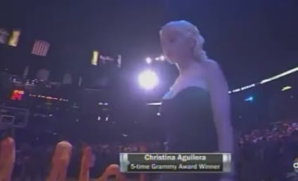 Christina Aguilera Sings NBA Finals National Anthem, Celebs Cheer Lakers to Victory