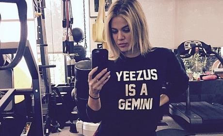 Khloe Kardashian Works Out