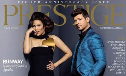 """Robin Thicke: Wife Paula Patton My """"Rock, Muse and Inspiration"""""""