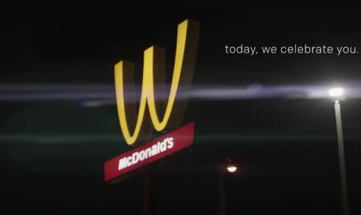 McDonald's Sign for International Women's Day