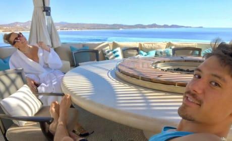 Mariah Carey and Bryan Tanaka Relaxing