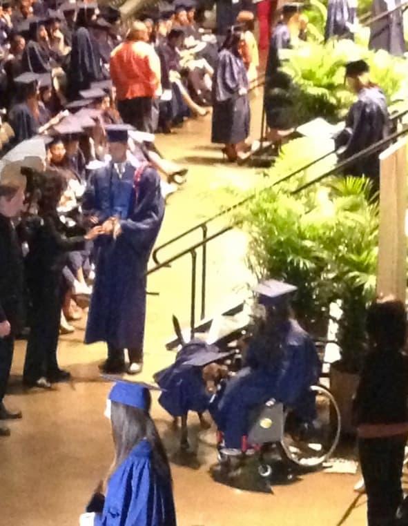 Service Dog at Graduation