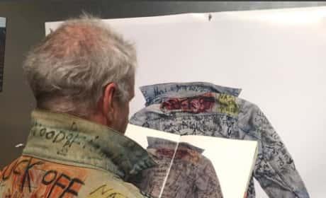 Jim Goldberg wears Tweeky Dave's jacket