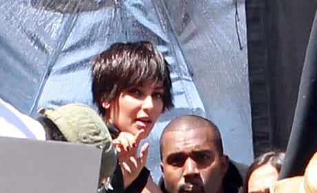 Kim Kardashian and Kanye West in Los Angeles