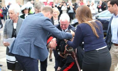 Prince William Steadies  Vice Lord Lieutenant of Essex Jonathan Douglas-Hughes Pic