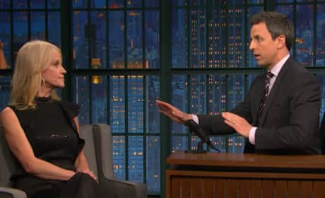 Seth Meyers Does the Best He Can with Kellyanne Conway