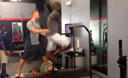 Chad Johnson Runs on Treadmill, Challenges Robert Gill