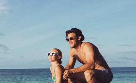 Julianne Hough and Brooks Laich on the Beach